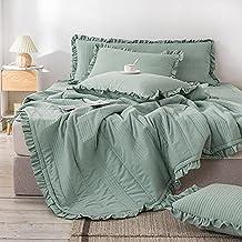 VINVITO أغطية السرير بحجم كوين من VINVITO أغطية فراش مبطن للخيل مزود بغطاء من الكتان (لا وسادة) لحاف M (اللون: ذهبي، المقا...