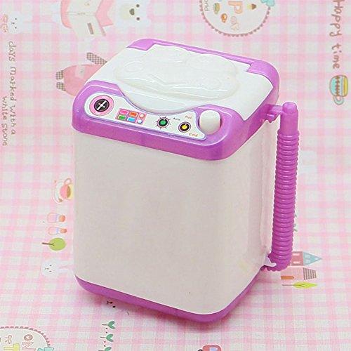 Gemini_mall - 1 pezzo per la lavatrice della casa delle bambole in miniatura, accessori per mobili per Barbie bambole, colore casuale