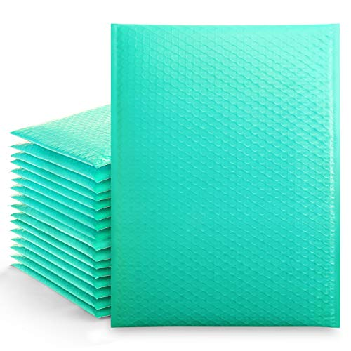 Metronic 25Pcs Poly Bubble Mailers,10.5X16 Inch Envelopes Padded Bulk #5, Bubble Envelopes Lined Wrap Polymailer Bags for Shipping/ Packaging/ Mailing Self Seal Teal