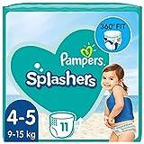 Pampers Baby Windeln Größe 4-5, Splashers, 11 Stück, Einweg-Schwimmwindeln, Für Sicheren Schutz Im Wasser