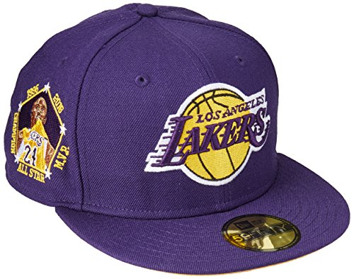 New Era 59Fifty NBA Hat Los Angeles Lakers Kobe Bryant Player All Star Champion Purple Cap (7 1/2)