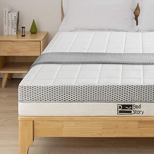BedStory 7 Zonen Matratze 140x200cm, Memoryschaum Matratze in Härtegrad H3 (fest, bis 120kg), Höhe 18cm hochwertige Matratze mit Lavendel-Essenz, Orthopädisch Viscoschaum Matratze für besseren Schlaf