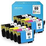 myCartridge Remanufactured Ink Cartridge Replacement Epson 69 High Yield Fit Workforce 30 610 615 1100 1300 Stylus C120 CX5000 CX6000 CX8400 CX9400Fax Printer 10-Pack(4Black,2Cyan,2Magenta,2Yellow)