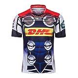 RFVBGT Jerseys de Rugby pour Hommes 19-20 Storms Rugby Jerseys, T-Shirts de Rugby à séchage Rapide, pour Les Fans L