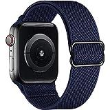 Younsea Apple Watch Correas Compatible con Apple Watch 44mm 42mm 38mm 40mm, Pulseras de Repuesto de Nylon Correa para iWatch Series 6 5 4 3 2 1 / Apple Watch SE, Mujer y Hombre - Azul Marino