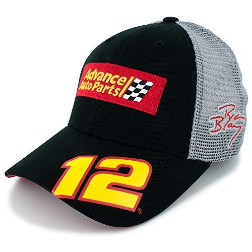 Checkered Flag Ryan Blaney Advance Auto Parts #12 Team Hat Black