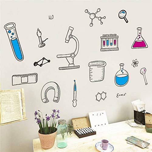 YSHUO Wandaufkleber Mikroskop Wissenschaft Chemie Schule Labor Wohnheim Wohnkultur Kinderzimmer Schlafzimmer Wohnzimmer
