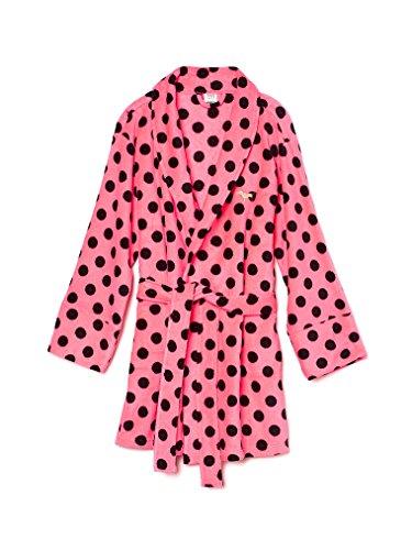 Victoria's Secret PINK Women's Plush Robe X-Small/Small Pink Polka Dot