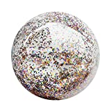 LIOOBO Niños 16 Pulgadas Transparente Bola de Lentejuelas Inflable Verano Divertido Agua diversión Jugar Pelota de Playa Bola de Billar Bola Favor de Partido