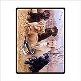 Custom Labrador Retriever Dog Fleece Blankets Throws 58 x 80 inches(Large)
