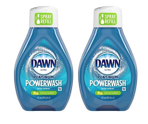 Dawn Ultra Platinum Powerwash Dish Spray Refill Bottles Apple Scent (2-16 FL OZ)