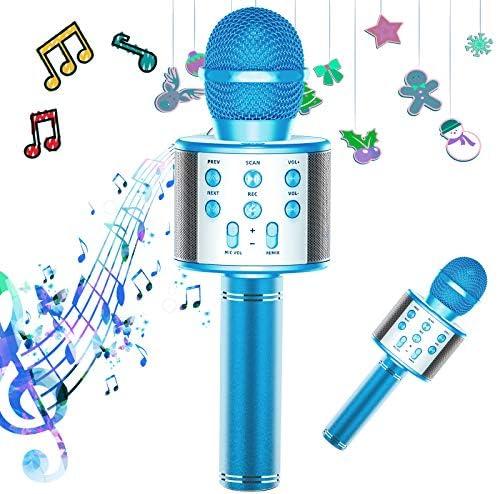 TRONICMASTER Karaoke Microphone Bluetooth 3 in 1 Portable Handheld Mic Karaoke Machine for Kids product image