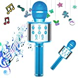 TRONICMASTER Karaoke Microphone Bluetooth, 3 in 1 Portable Handheld Mic Karaoke Machine for Kids, Voice Disguiser Microphone for Christmas Home Birthday Party