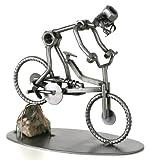 metalman24 Schraubenmännchen Fahrrad Mountainbike Stein MTB handgefertigte ausgefallene Geschenkidee