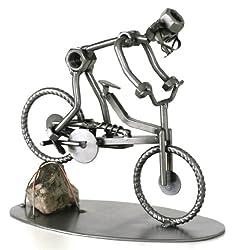 Schraubenmännchen Fahrrad Mountainbike Stein MTB I Handarbeit I Geschenkidee I Metallfigur I Metallmännchen I Stahlfigur I Schraubenmännle