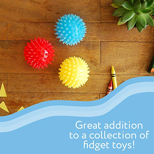 Spiky Sensory Balls (Pack of 5) - Squeezy and Bouncy Fidget Toys / Sensory Toys - BPA/Phthalate/Latex-Free