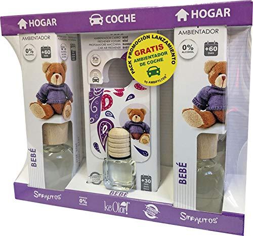 AMBIFYLTER® Pack Premium - 2 Ambientadores Hogar + 1 Ambientador de Coche Gratis BEBÉ