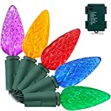 Best Xmas Light Timer - RECESKY C6 Bulbs Christmas Lights with Timer Review