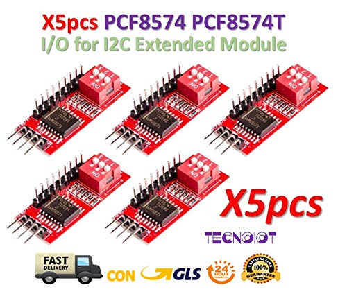 TECNOIOT 5pcs PCF8574 PCF8574T I/O for I2C IIC Port Interface Cascading Extended Module