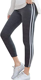 Wogo Women Stripe Pants Printing Cashmere Elastic Exercise Pants Fitness And Running Yoga Pants