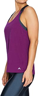Rockwear Activewear Women's Kaleidoscope Elastic Strap Singlet Cranberry 6 from Size 4-18 for Singlets Tops