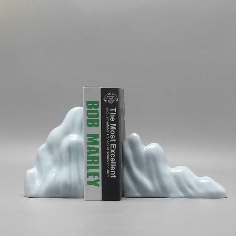 WY-YAN Challenge the lowest price HZR Elegant Modern Home Mag Mountain Cyan Ceramic Nashville-Davidson Mall Bookend