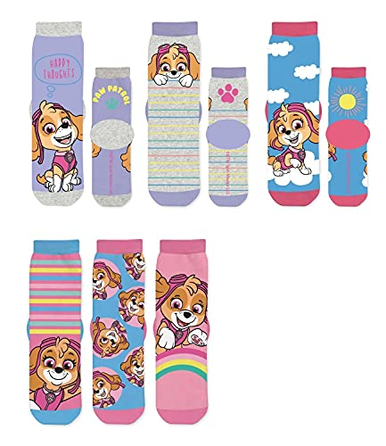 PAW PATROL 6 Paar Mädchen Socken Kinder Strümpfe 27-30 / mehrfarbig