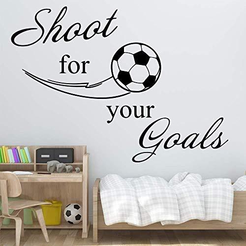 43 * 44 cm exquisito fútbol fútbol pegatinas de pared decoración del dormitorio habitación de niñas pegatinas habitación infantil decoración natural vinilo arte tatuajes de pared