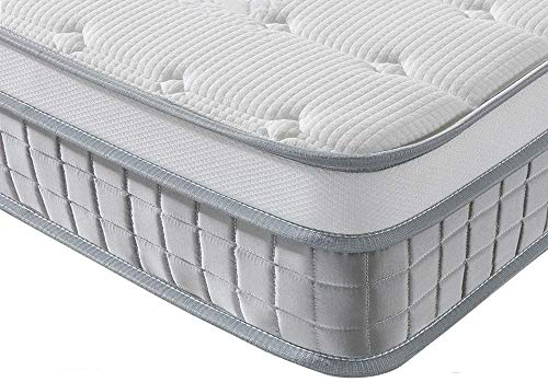 Vesgantti European Mattress 80x200 cm - 9.6 Inch Pocket Sprung Mattress with Breathable Foam and Individually Wrapped Spring - Medium Firm Feel, Modern Box Top Collection