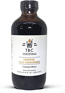 TBC Cocktails Premium Cocktail Mixers - Drink Mixer for Making Great Tasting Craft Cocktails (Smoked Old Fashioned, 8 fl. oz)