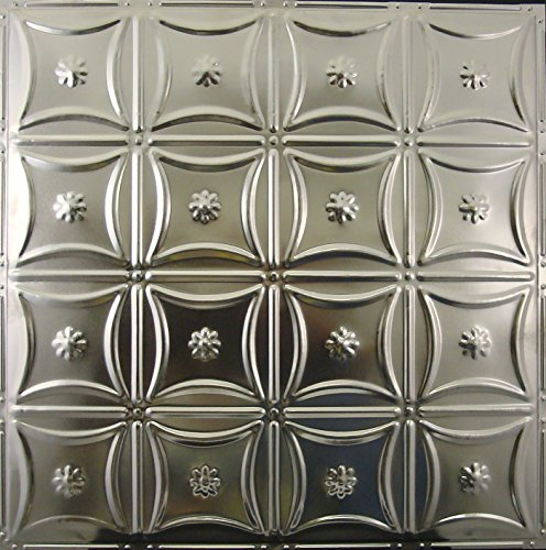 Tin Ceiling Tiles #130, Unfinished Nail-up for Tin Backsplash or Ceiling