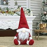 Modfine Gesichtslose Santa Doll Fenster Dekoration Weihnachtsschmuck Geschenk Christbaumschmuck