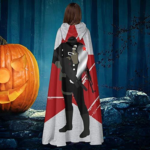 AISFGBJ - Disfraz de Soldado de Invierno, Unisex, para Halloween, Bruja, Caballero, con Capucha, Disfraz de Vampiro