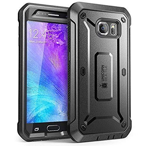 SUPCASE Samsung Galaxy S6 Hülle 360 Grad Handyhülle Bumper Case Rugged Schutzhülle Cover [Unicorn Beetle PRO] mit integrierter Displayschutz, Schwarz - 5.1 Zoll