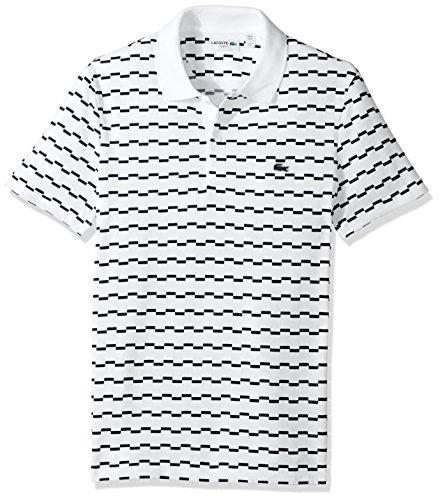 Lacoste Robert George Irrig Herren-Poloshirt, kurzärmelig, gestreift - Mehrfarbig - XX-Large