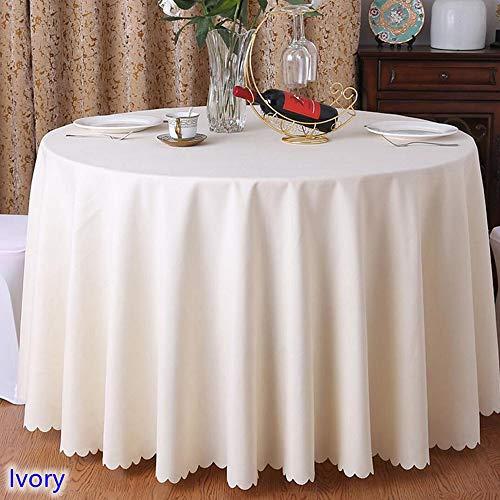 YQHWLKJ 24 Couleurs Couverture De Table De Mariage Table Tissu Polyester Linge De Table Hôtel Banquet Tables Rondes Décoration en Gros