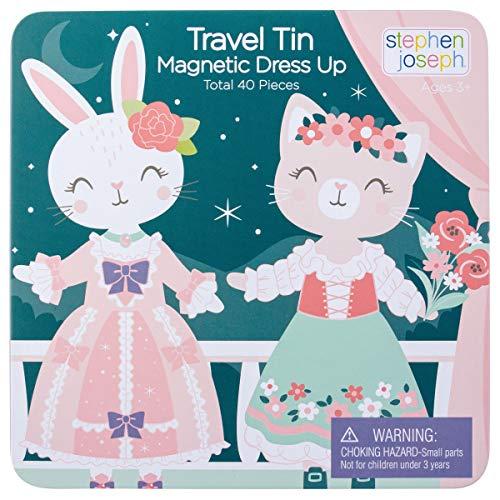 Stephen Joseph Travel TIN Magnetic Dress UP Bunny and CAT