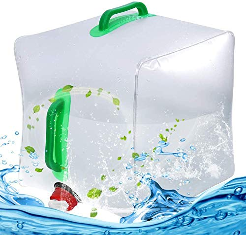 Contenedor de Agua Plegable,Bidón de Agua Plegable Depósito de Agua Contenedores de Agua, para Senderismo Camping Picnic Travel Barbacoa (20 L)