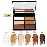 Allbesta Bronzer und Highlighter Puder Palette Concealer Contour Powder Contouring Make-up Highlight and Bronzing
