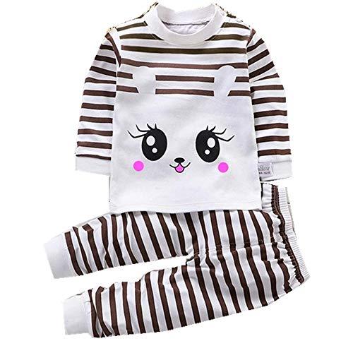Conjunto de Pijamas Traje de Ropa de Dormir de Dibujos Animados de Manga Larga para niños