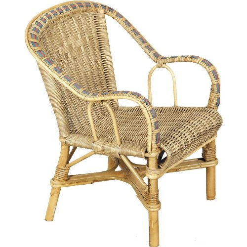 PEGANE Wicker Child's Chair in Manau, Dimensions: 41 X 42 X 50 cm