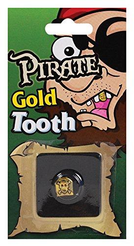 Pirate Skull Tooth Cap. Gold