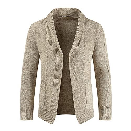Luckycat Sweters para Hombre Cardigan Invierno Cárdigan de Punto Chaqueta de Punto con Botones con...