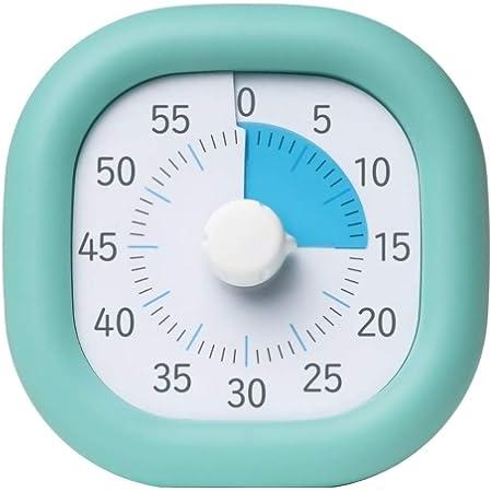 タイマー 静音 カチカチ気にならない 子供 時間 タイム管理 シリーズ2000個販売突破 60分式学習法(ミントブルー, 10cmモデル)(1015-mint-10)