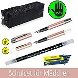 Online Schreibset für Mädchen | Schlamper-Etui inklusive Stifte für Rechtshänder | Set für die...