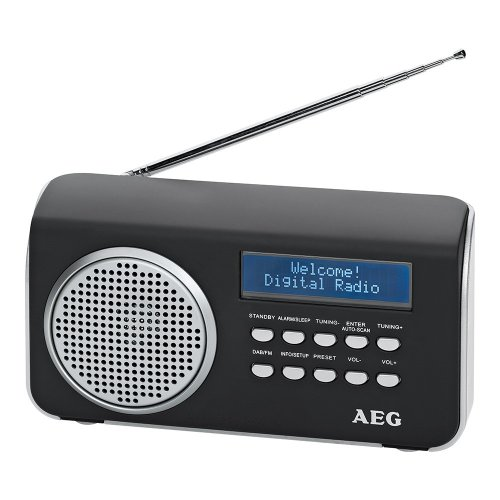 AEG DAB 4130 DAB Radio (UKW, AUX-IN) schwarz