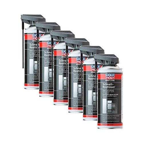 6x LIQUI MOLY 7390 Pro-Line Schnell-Rostlöser Spray Rust Remover 400