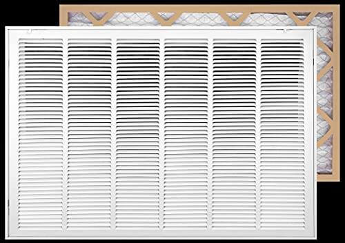 30' X 20' Filter Included Heavy Duty Steel Return Air Filter Grille [Removable Face/Door] for 1-inch Filters HVAC Duct Cover Grill, White   Outer Dimensions: 32 5/8'W X 22 5/8'H for 30x20 Duct Opening