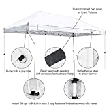 LeeMas Inc White 10x20ft Pop Up Canopy Instant Tent for Wedding Party Flea Markets Festival Carnival Sports Event