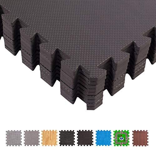 BodenMax beschermmatten 30 x 30 cm, puzzelmat sportmat onderlegmat gymnastiekmat fitnessmatten vloerbescherming matdikte: 10-25 mm